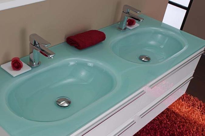 Doppelwaschbecken glas  Eurobagno - Serie Sari